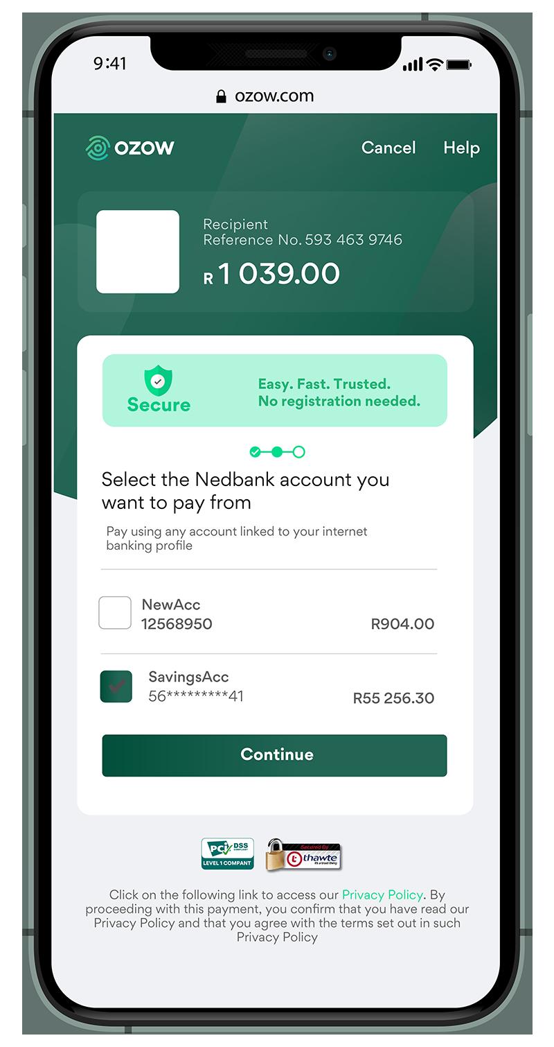 Nedbank Payment Flow - Ozow Training Portal